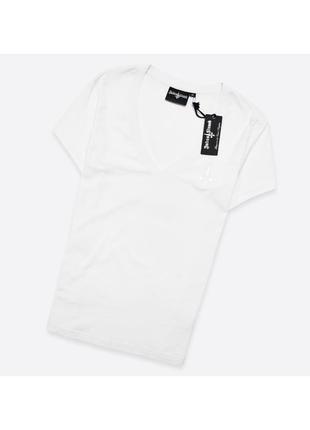 Judas sinned m / мужская белая футболка с глубоким вырезом, лёгкий хлопок, новая