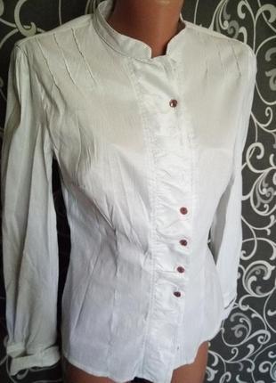 Рубашка в полоску коттон с эластаном