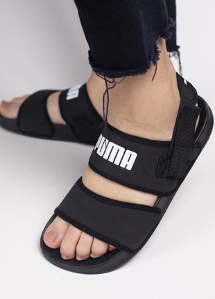 Прекрасные и очень сандалии puma в черном цвете (весна-лето-осень)😍