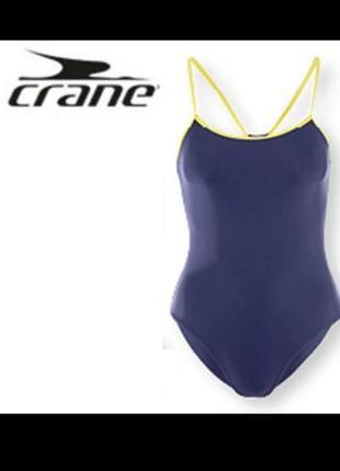 Спортивный слитный купальник crane