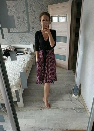 Новое асимметричное платье миди длина вискоза chelsea clark