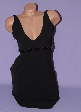 Черное платье 8 размера miss sixty