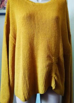 Красивый свитер с широкими рукавами большого размера 18 uk оверсайз