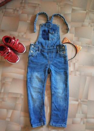 Классный джинсовый комбинезон бойфренд от detroit.