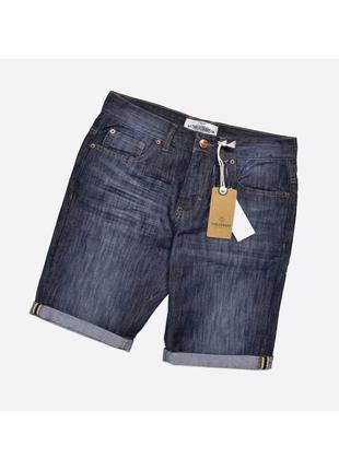 Threadbare 30, 32 / новые джинсовые шорты с бирками, тёмно-синие