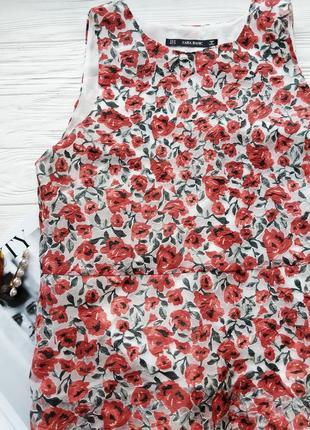 Блуза блузка топ майка в цветочек цветочный принт zara