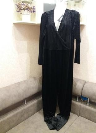 Шикарный бархатный комбинезон c v-образным вырезом-бренд-fashion unior-16 18h