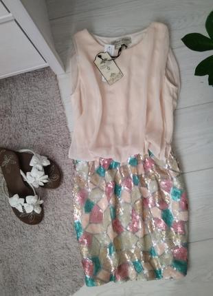 Летнее платье /паєтки/ мозаика/тренд/