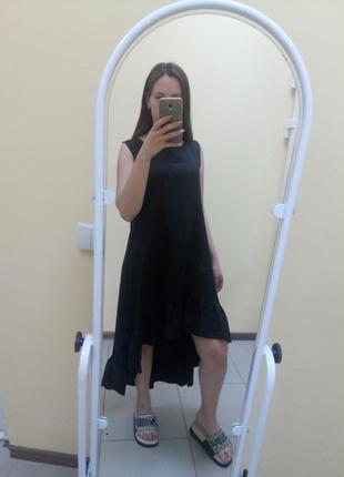 Черное летнее платье легкое
