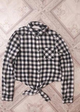 Красивая рубашечка фирмы h&m 8-10 лет