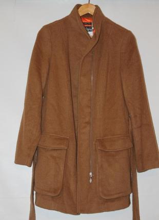 Женское шерстяное бежевое пальто s.oliver 38 10