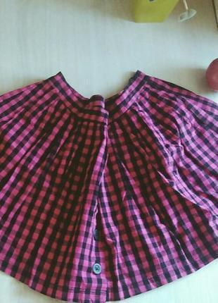 Розовая юбка в клетку topshop