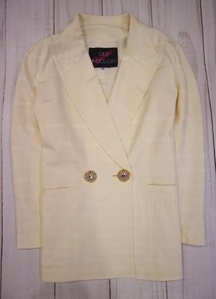 Удлинённый двубортный пиджак, италия, gai mattiolo, l-xl