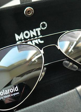 Мужские очки mont blanc авиатор комплект2 фото