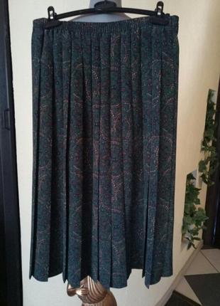 Трендовая юбка-плиссе,батал,миди,большой размер