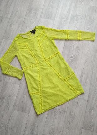 Идеальное кружевное платье яркого лимонного цвета 🍋
