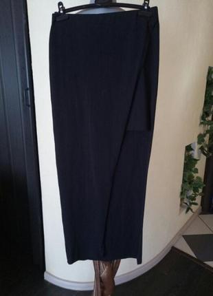 Длинная юбка-карандаш,асимметрия,запах