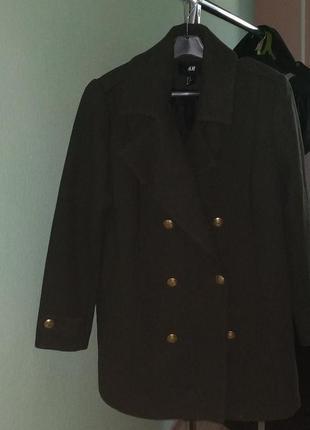 Пальто-бушлат в стиле милитари h&m