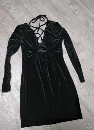 Шикарное вечернее обтягивающее облегающее бархатное велюровые платье