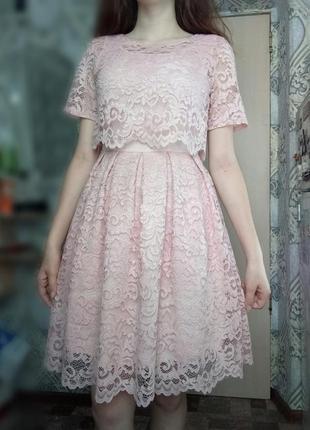 Нежное выпускное платье / вечернее платье4 фото