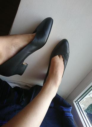 Туфли балетки винтаж натуральная кожа vintage ретро раритет celine
