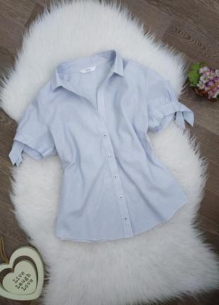 Блуза/блузка в полоску с коротким рукавом marks&spencer