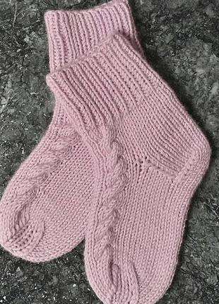 Носочки вязаные(р.24-25) шерсть, не колется.