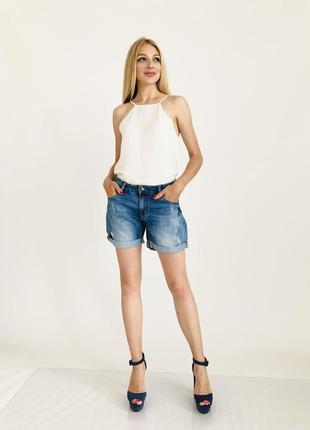 Модные, женские, джинсовые шорты-бойфренды  турция