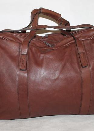 Большая дорожная сумка + портплед gold pfeil 100% натуральная кожа