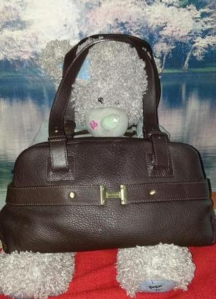 Кожаная сумка hilfiger