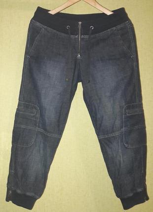 Крутые джинсовые бриджи капри