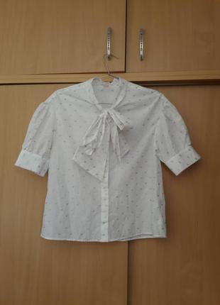 Интересная хлопковая блузка h&m zara. оригинал