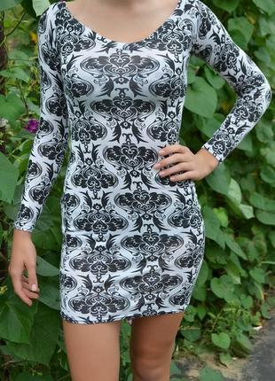 Платье в принт от boohoo