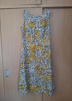 Per una 100% лен стильное красивое платье миди m&s zara cos zara h&m6 фото