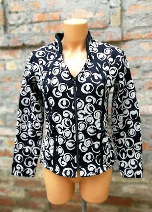 Пиджак жакет блейзер на молнии куртка летняя 2biz в принт горох