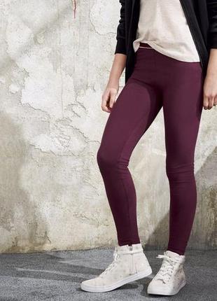 Лосины штаны для девочки р. 110 116 lupilu германия бордовые