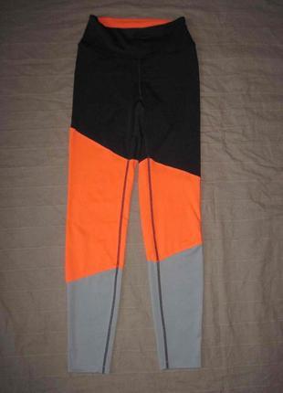 H&м (xs) спортивные эластичные лосины женские