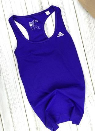 Спортивная майка adidas climalite насыщенно синего цвета