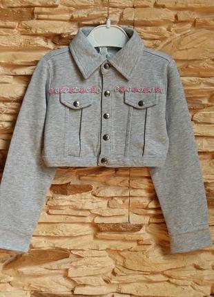 Укороченная курточка/жакет/пиджак/кофта gaialuna (италия) на 3 годика (разм.98)