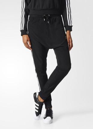 Модные легкие штаны adidas drop crotch р. 36 оригинал