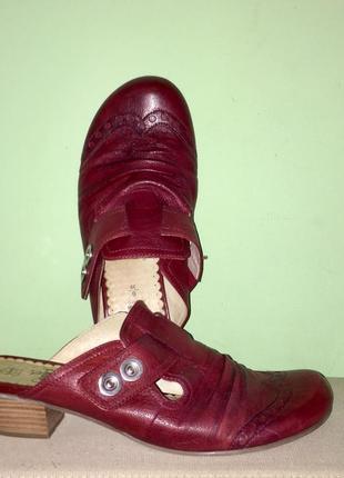 Мюли цвета марсала; шлёпанцы с закрытым носком на низком каблуке