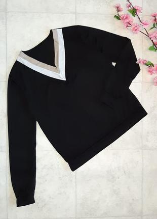 1+1=3 стильный черный легкий свитер джемпер, размер 48 - 50