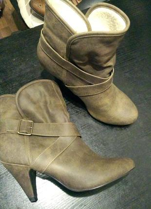 Полу сапоги сапожки ботильоны ботинки new look1 фото