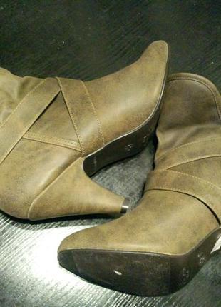 Полу сапоги сапожки ботильоны ботинки new look4 фото