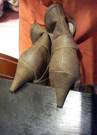 Полу сапоги сапожки ботильоны ботинки new look6 фото
