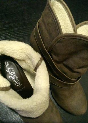 Полу сапоги сапожки ботильоны ботинки new look8 фото