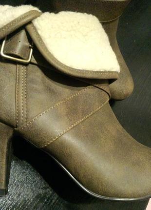 Полу сапоги сапожки ботильоны ботинки new look9 фото