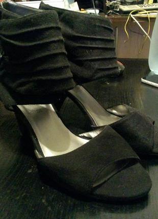 Босоножки сандали туфли замшевые new look