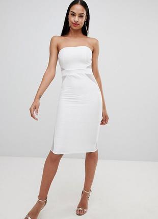 Бандажное платье-бандо missguided