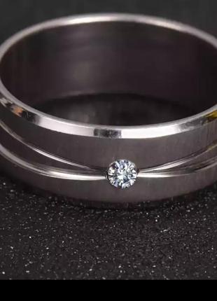 Кольцо нержавеющая сталь колечко серебро